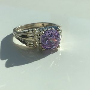 💜Stunning Amethyst In Solid Sterling Silver💜